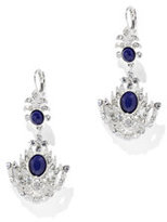 New York & Co. Faux-Sapphire Chandelier Earring