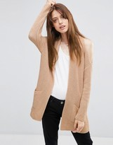 Asos Cardigan With Cold Shoulder