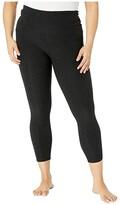 Beyond Yoga Plus Size Out Of Pocket High Waisted Spacedye Midi Leggings (Darkest Night) Women's Casual Pants