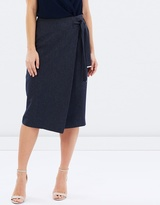 Dorothy Perkins Wrap Textured Skirt