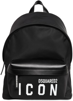 DSQUARED2 Print Icon Nylon Backpack
