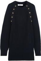 Chloé Oversized Wool Sweater Dress - Navy