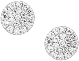 Kamaria Diamond Disk Studs - White Gold