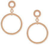 Vince Camuto Rose Gold-Tone Circular Drop Earrings