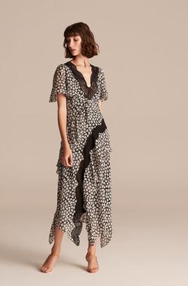 Rebecca Taylor Star Fleur Lace Trim Dress