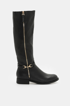 Ardene Faux Leather Knee-High Boots - Shoes |