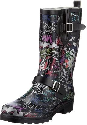 Beck Women's Graffiti Wellington Boots