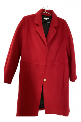 Paule Ka Red Wool Coats