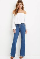 Forever 21 Button Flared Jeans