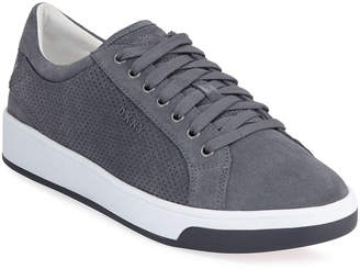 DKNY Men's Samson Lace-Up Suede Sneakers