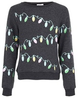 Wildfox Couture Charcoal Glowing Lights Sweatshirt