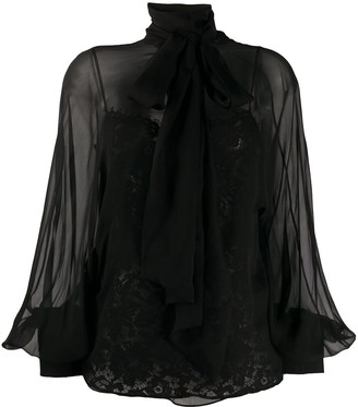 Valentino Lace Camisole Sheer Blouse