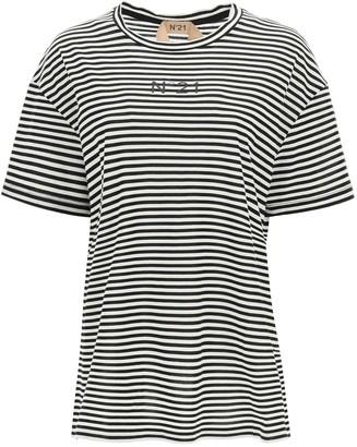 N°21 N.21 Striped T-shirt With Logo Pocket