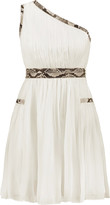 Diane von Furstenberg Emlyn ruffled one-shoulder chiffon mini dress