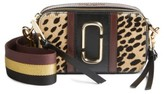 Marc Jacobs Snapshot Leopard Crossbody Bag - Black