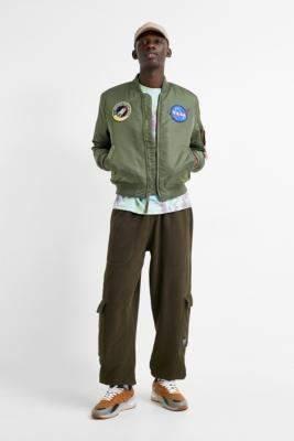Alpha Industries L-2B NASA Flight Sage Green Bomber Jacket - green M at Urban Outfitters