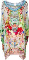 Camilla floral print short kaftan