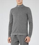 Reiss Basillica - Funnel Neck Zip Cardigan in Grey, Mens