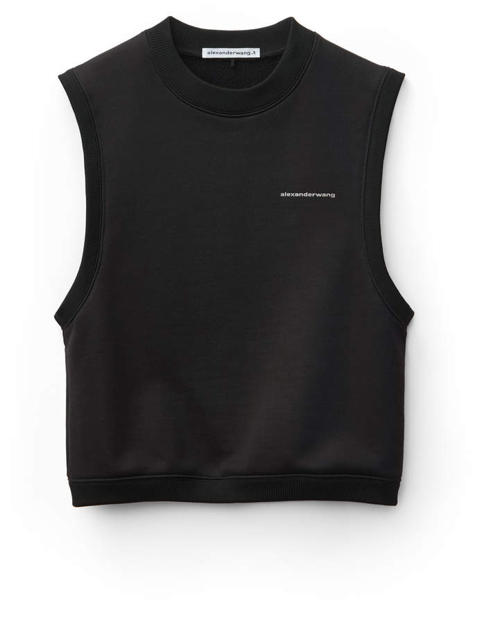 Alexanderwang FRENCH TERRY SLEEVELESS PULLOVER