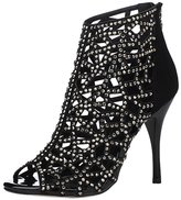 CAMSSOO Women's Sparkle Crystal Cutouts Stiletto High Heels Party Dress Sandals Size 8.5 EU40
