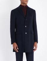 Corneliani Single-breasted wool overcoat