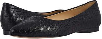Trotters Estee (Black Croco) Women's Slip-on Dress Shoes