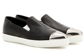 Miu Miu Leather Slip-on Sneakers
