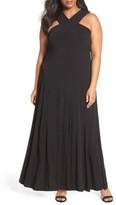 MICHAEL Michael Kors Plus Size Women's Cross Neck Jersey Maxi Dress