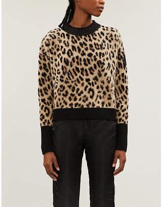 Moncler Leopard-print wool and cashmere-blend jumper