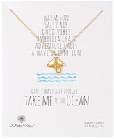 Dogeared 14K Gold Dipped Sterling Silver Take Me to the Ocean Sting Ray Necklace