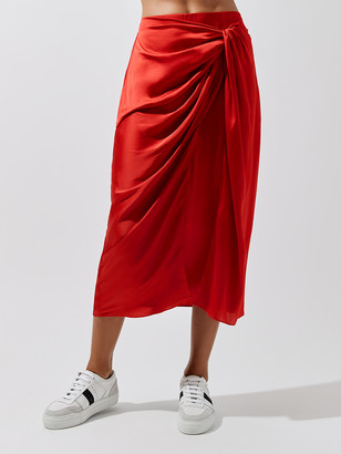 Carbon38 Wrap Midi Skirt