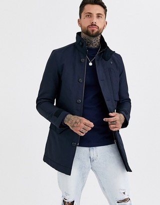 G Star G-Star Scutar utility padded trench coat in blue