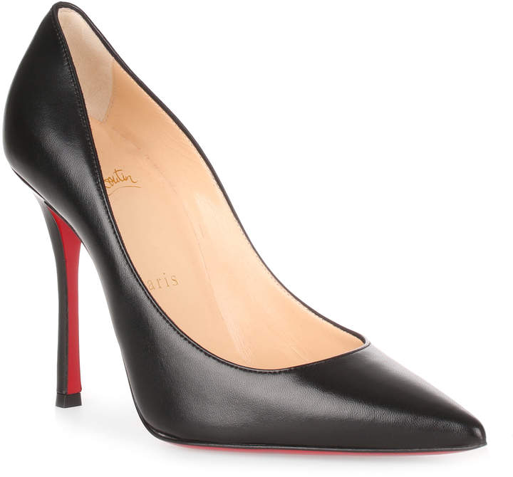 Christian Louboutin Decoltish 100 black nappa leather pump