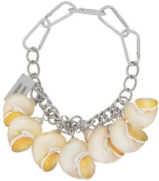 Chopova Lowena - Shell Charm Chain Choker Necklace - Silver