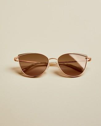 Ted Baker Metal Cat Eye Sunglasses