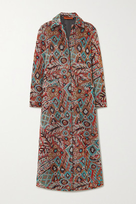Missoni Sequined Metallic Jacquard-knit Coat - Brown