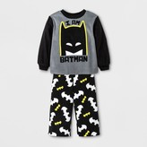 Batman Toddler Boys' DC Comic 2pc Long Sleeve Pajama Set - Black