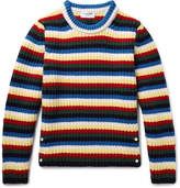 Thom Browne Striped Wool Sweater - Blue