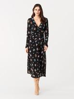 Diane von Furstenberg Vanessa Tissue Jersey Midi Dress