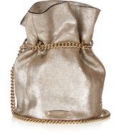 Lanvin Metallic suede bucket bag