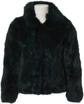 Ducie Green Fur Jacket for Women