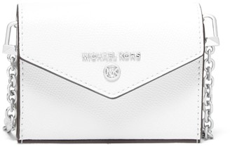 MICHAEL Michael Kors Extra-small Crossgrain Leather Convertible Card Case