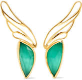 Katerina Makriyianni Gold Vermeil, Agate And Quartz Earrings - Green