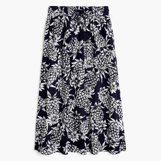 J.Crew Smocked-trim maxi skirt