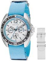 Nautica Women's NAD11526M Ladies Sport Ring Gift Set Analog Display Quartz Blue Watch