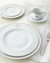 Pickard White Script Monogram Dinner Plate