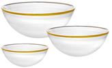 Godinger Round Bowls (Set of 3)