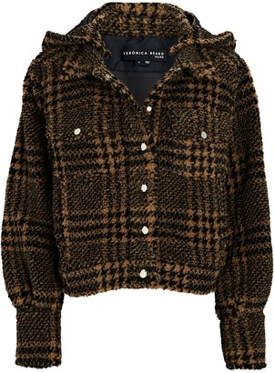 Veronica Beard Gabbi Hooded Houndstooth Jacket