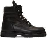 Balmain Black Perforated Taiga Boots