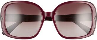 Kate Spade Elianna 55mm Square Polarized Sunglasses